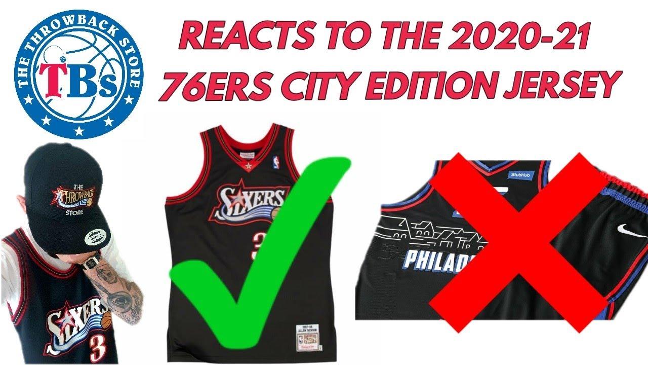 Philadelphia 76ers City Edition Jersey Reaction 2020 2021 Ben Simmons Allen Iverson Nba Basketball Youtube