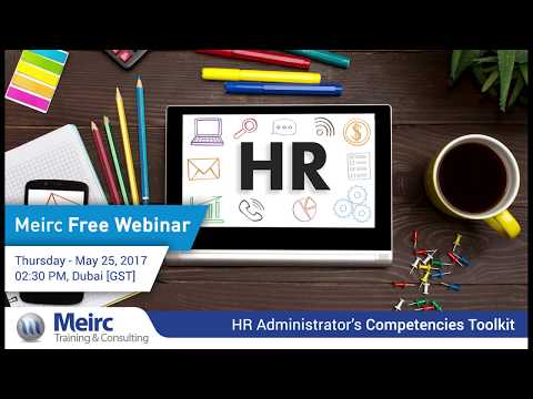 HR Administrator`s Competencies Toolkit | Human Resources and Training | Dubai | Meirc