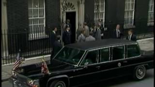 President Reagan Arriving at #10 Downing Street in London, England on June 5, 1984