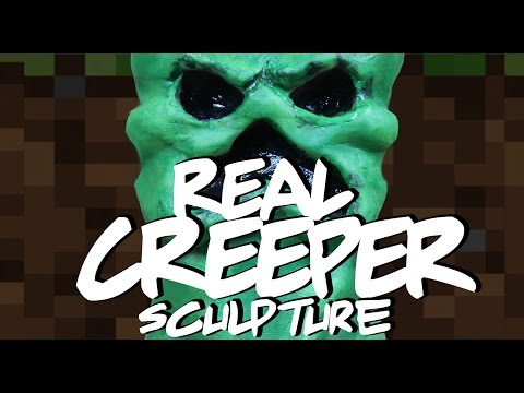 REAL CREEPER Sculpture - Minecraft