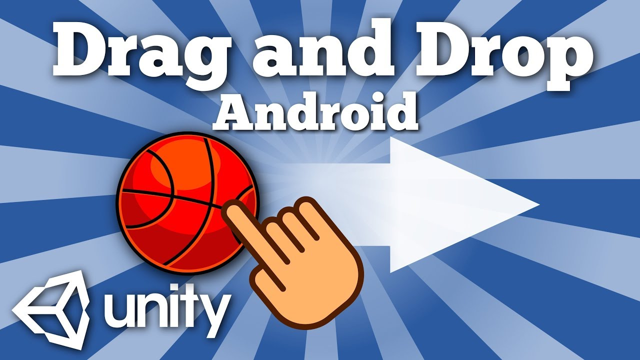 How to drag and drop game object in Android Unity game? Unity tutorial