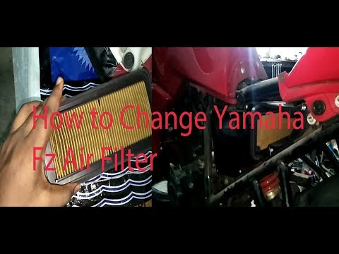 learn how to change yamaha fz v2 air filter