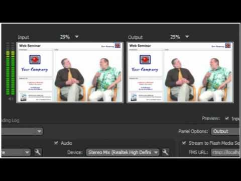 Adobe Flash Live Media Encoder Tutorial