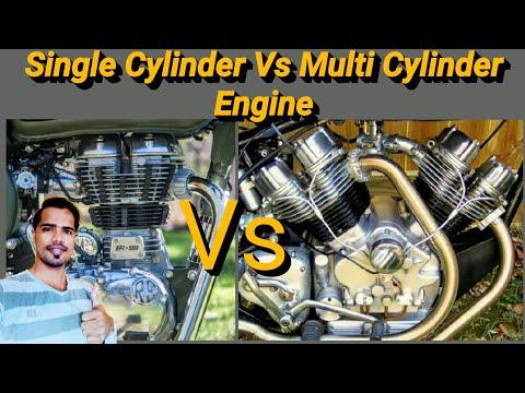 Single cylinder engine vs multi cylinder engine - Hindi
