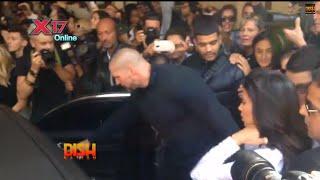 kim kardashian tackled during paris fashion week