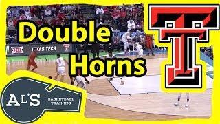 Texas Tech Double Horns Basketball Play