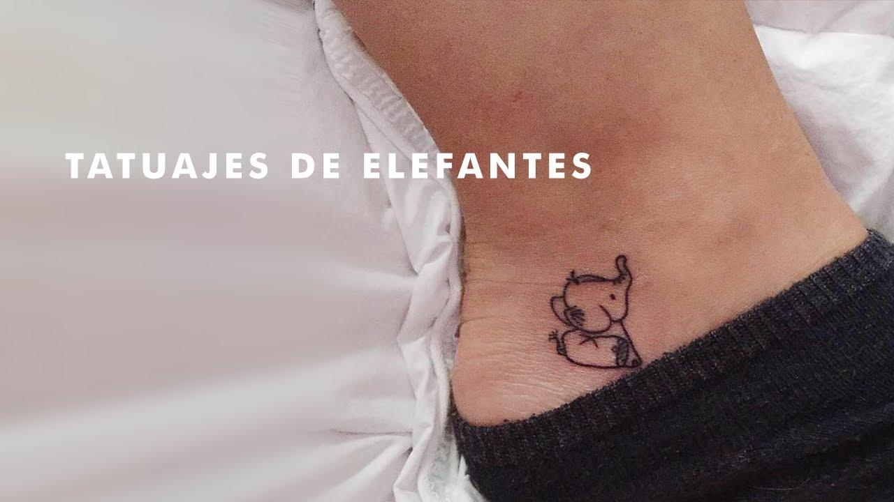 Preciosos Tatuajes De Pequeños Elefantes Youtube
