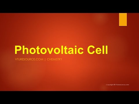 Photovoltaic Cell - Construction & Working