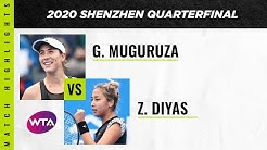 Garbine Muguruza vs. Zarina Diyas | 2020 Shenzhen Open Quarterfinal | WTA Highlights