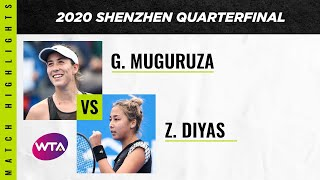 Garbine Muguruza vs. Zarina Diyas | 2020 Shenzhen Open Quarterfinal | WTA Highlights