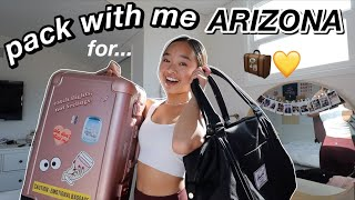 PACK WITH ME FOR ARIZONA | Nicole Laeno