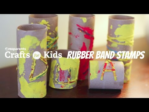 DIY Rubber Band Stamps | Crafts for Kids | PBS Parents
