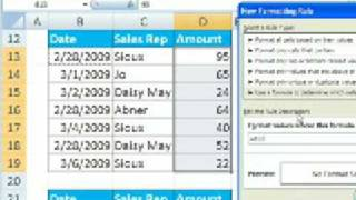 Excel Magic Trick # 270: Conditional Format Based On Diff Cell