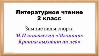 Литература 2 класс М Пляцковский Мышонок крошка выходит на лёд