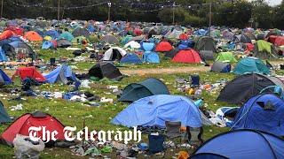 video: Watch: Reading Festival revellers leave sea of rubbish and tents