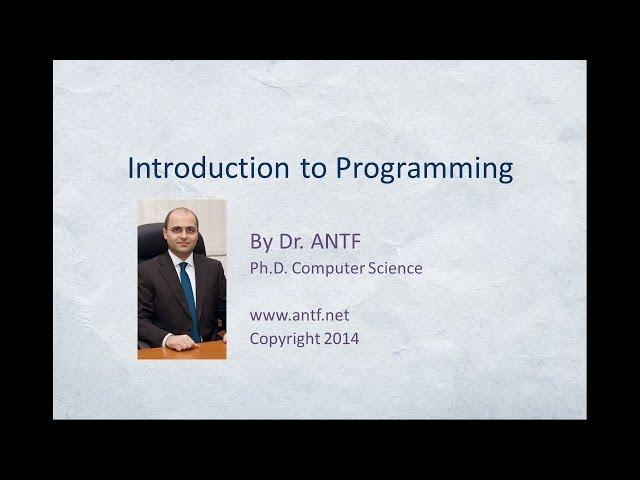 تعلم البرمجة C# Language مع Dr. ANTF
