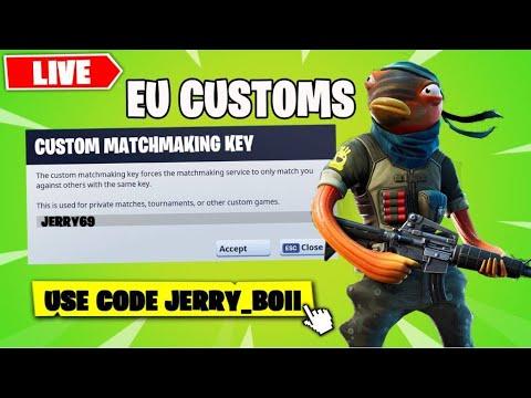 🔴(EU) Custom Matchmaking Solo/ Duos/ Squads Scrims Fortnite Live [Any Platforms]