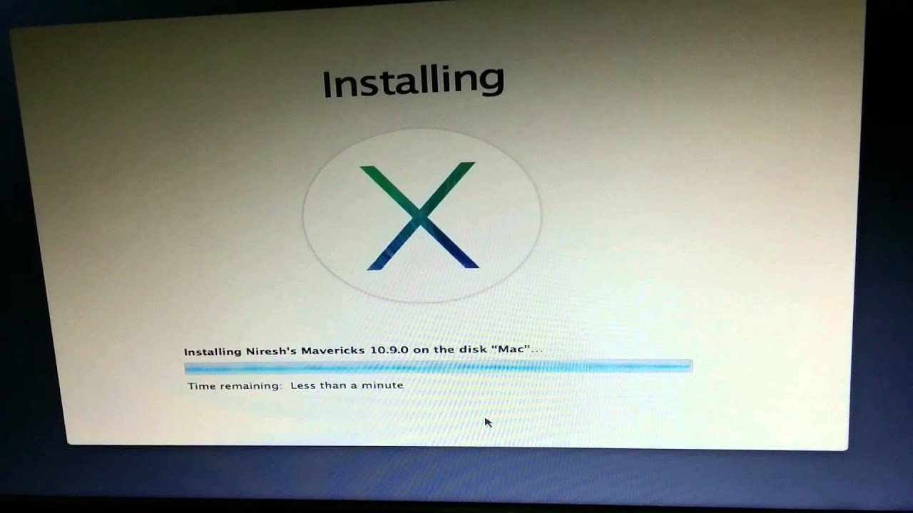 how to install niresh mavericks iso on pc