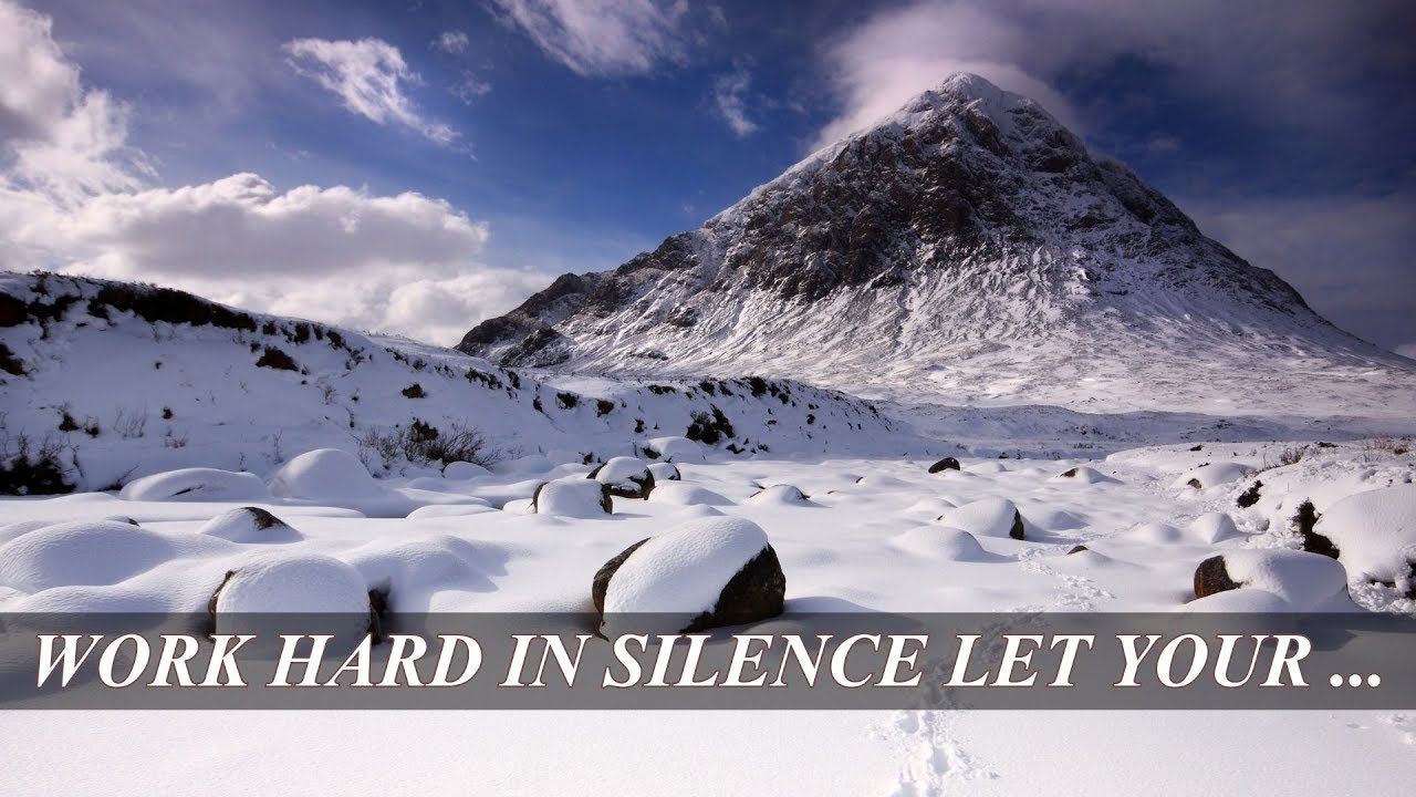 Motivational Quotes Work Hard In Silence Let Your Success Be The
