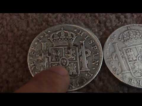 Four Silver Pieces Of Eight (8 Reale Coins)