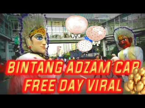 BINTANG ADZAM  TERGOKiL di car Free day