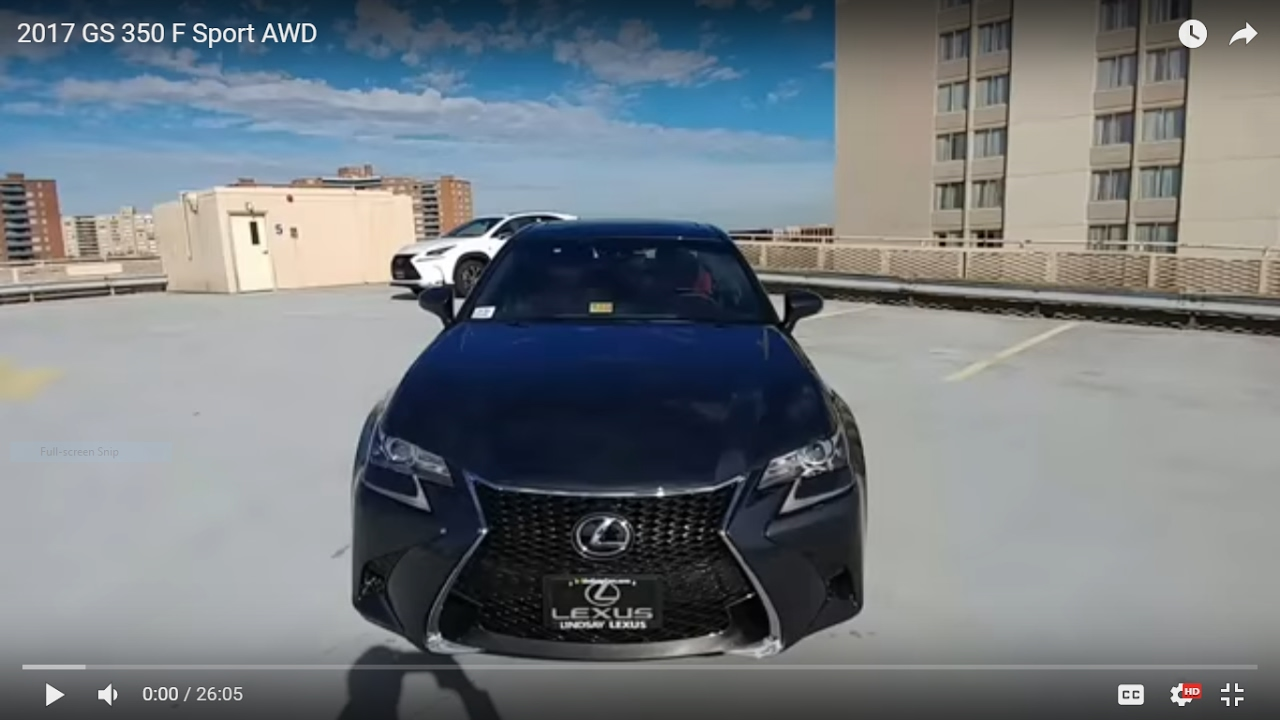 2017 lexus gs 350 f sport awd youtube. Black Bedroom Furniture Sets. Home Design Ideas