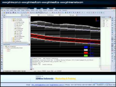 3DMINE - Mining Software Tutorial - Coal Block Model
