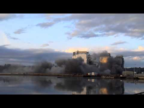 HF Lee ower Plant Smokestack Implosion