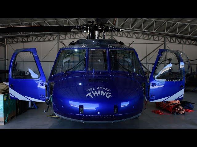 Llega a Chile helicóptero Black Hawk para combatir incendios forestales operado por Ecocopter Chile