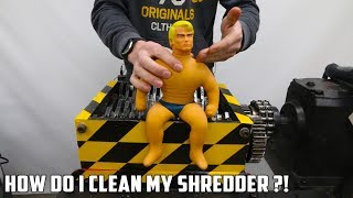 High Pressure Washing the Shredder after Shredding Stretch Armstrong