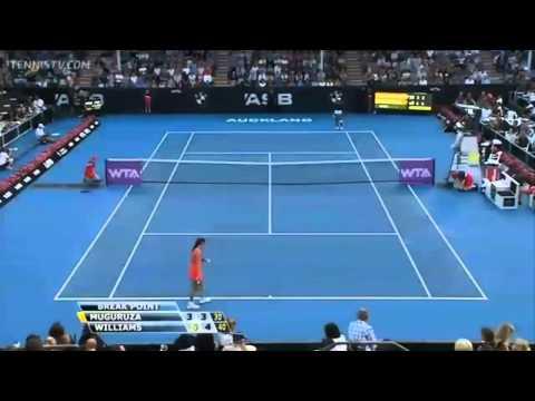Venus Williams vs Garbine Muguruza - WTA Auckland 2014 Highlights