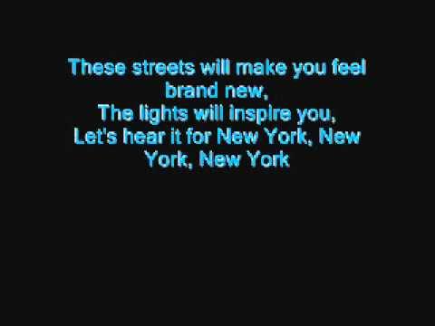 Glee- Empire State Of Mind (w/ Lyrics)
