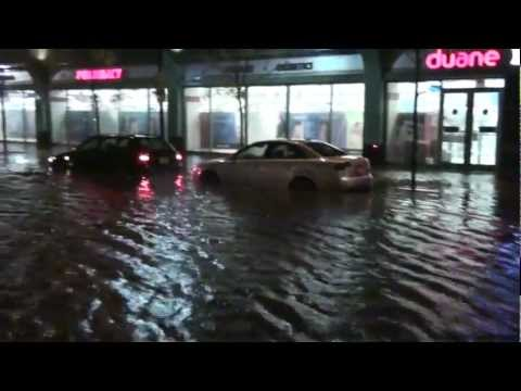 Jersey City, New Jersey – Flooding in Newport during Hurricane Sandy HD (2012)