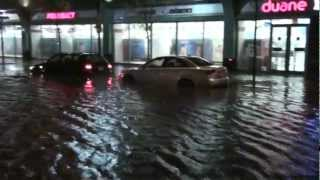 Jersey City, New Jersey - Flooding in Newport during Hurricane Sandy HD (2012)