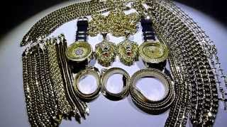 $395 30 piece Yellow Gold Wholesale deal! Cuban/Rope/Herringbone/Gucci Chains+Bracelets+Watches
