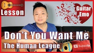Don't You Want Me - The Human League Guitar Tutorial NO CAPO