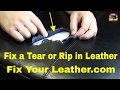 BYCAST LEATHER REPAIR - LARGE TEAR in Seat Cushion