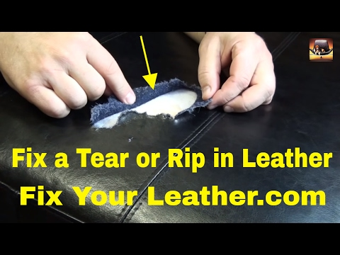LEATHER TEAR REPAIR - LARGE TEAR in BYCAST LEATHER