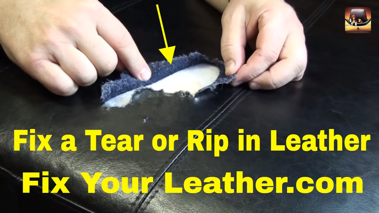 leather tear repair large tear in bycast leather youtube. Black Bedroom Furniture Sets. Home Design Ideas