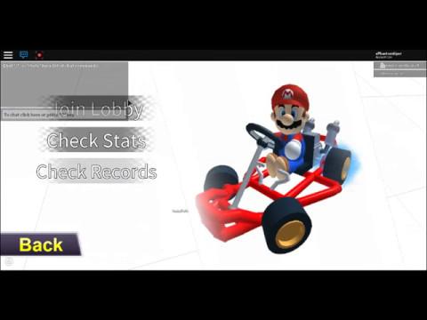 Mario Kart At Roblox Mario Kart Snes Rainbow Road Roblox Youtube