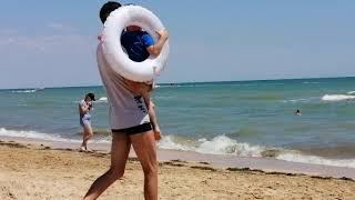 Развлечения на пляже возле базы отдыха Азов в Счастливцево 27.06.2020 год