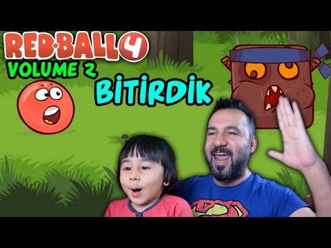 KIRMIZI TOP 4 VOLUME 2 BİTİRDİK!| RED BALL NİNJA BOSS