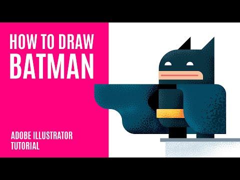 How To Draw Batman ⭐ Flat Design Illustration Tutorial