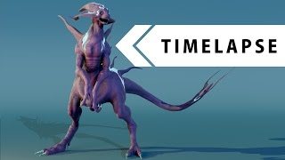 Creature Creation - Modeling, Sculpting, Texturing, Rigging (BLENDER TIMELAPSE)
