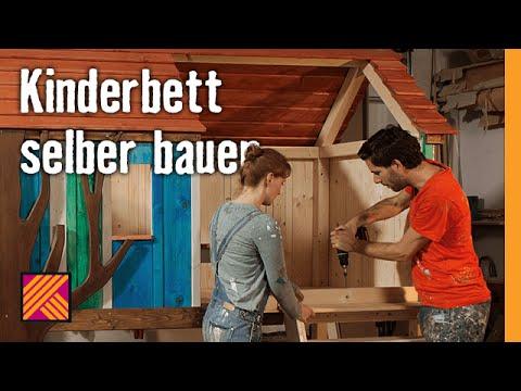 Kinderbett baumhaus selber bauen  Kinderbett selber bauen | HORNBACH Möbelbau - YouTube