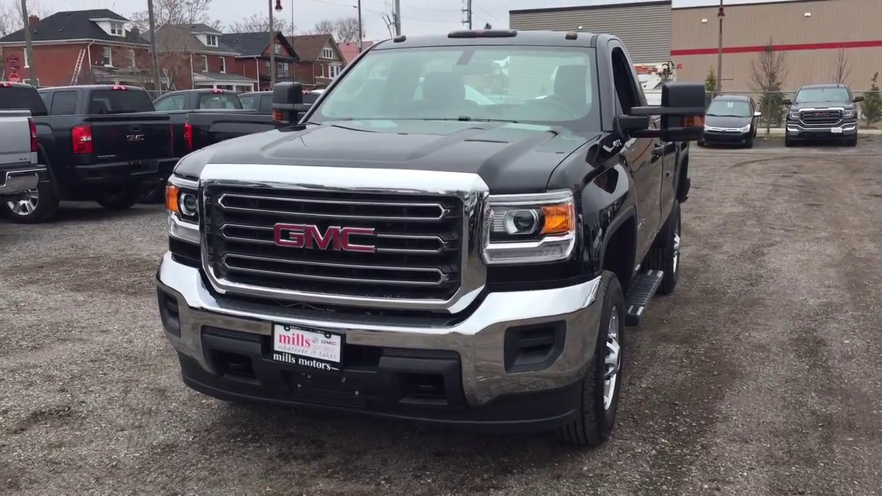 2017 gmc sierra 2500hd regular cab 4wd camper style mirrors black oshawa on stock 171072 youtube. Black Bedroom Furniture Sets. Home Design Ideas
