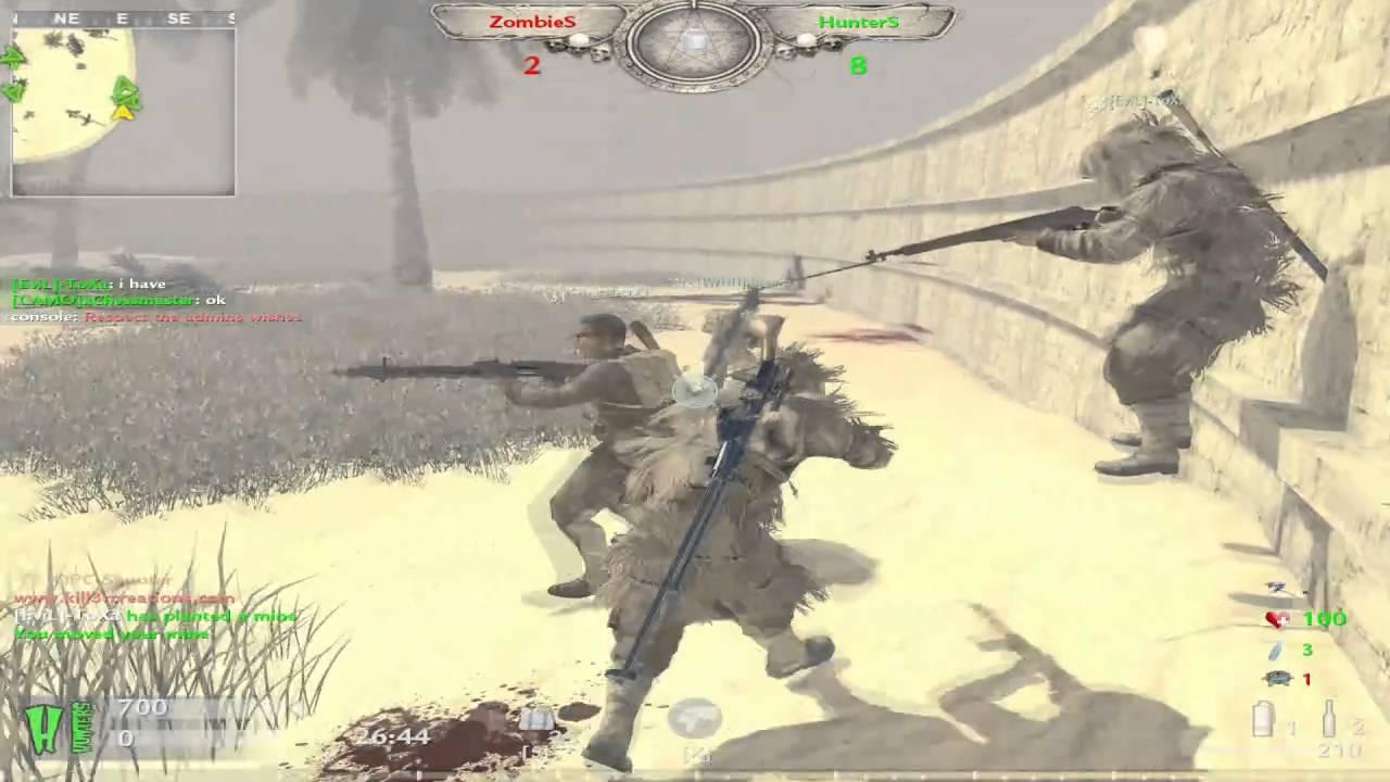 Cod 5 Zombie mod ZOMX ZOMBIE X Arena map - YouTube