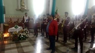 Nico Flores con banda monarca de morelia cantando en el templo de santa Rita ayotlan Jalisco
