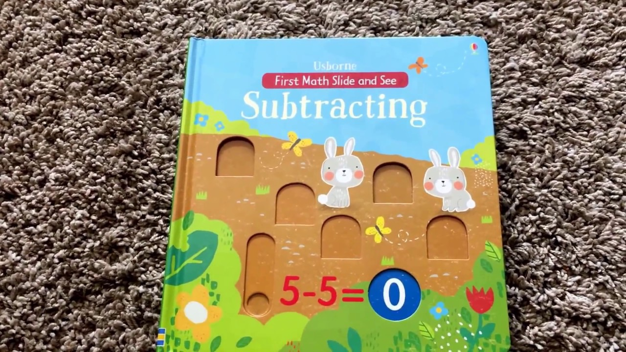 a peek into one of the latest titles usborne first math slide and