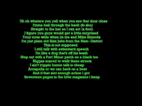 Fort Minor There They Go Lyrics